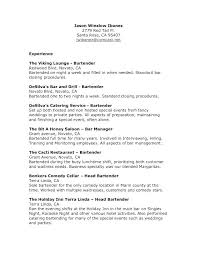 Sample Bartender Resume Skills Communication Skills On Resume Sample