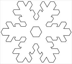 Blank Snowflake Template Christmas Template To Print Naomijorge Co