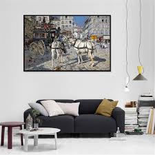 Cheap Horse Posters Art Decor Print Canvas Oil Painting Street Horse Giovanni