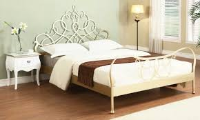 Antique Silver Modern Metal Bed
