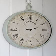 french grey wall clock french style