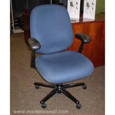 blue task chair. Herman Miller Ergon Blue Fabric Mid Back Task Chair - Used