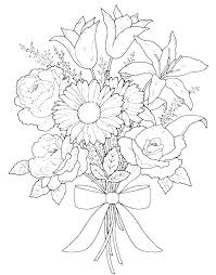 Pics Of Flowers To Color Pretty Flowers Coloring Pages Of This Is