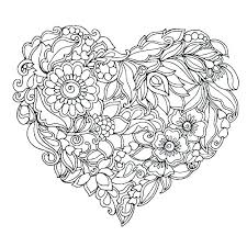 Love Heart Coloring Pages To Print Out Printable Roses Leopard