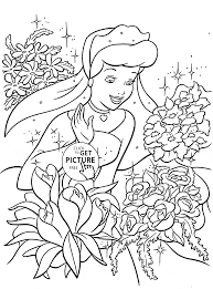 Small Picture Walt Disney Characters Cinderella Coloring Activity For Girls