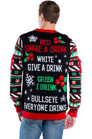 Men\u0027s Drinking Game Ugly Christmas Sweater Sweaters: Funny Holiday Sweaters for Guys