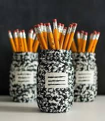 pencil holder mason jar craft composition book 2 mason jar crafts love 890 1024