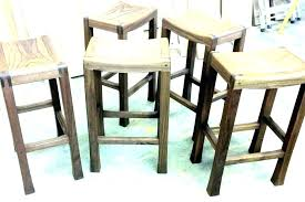 backless bar stools counter height chairs with arms 24 inch metal set of four in