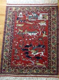 small persian rug a wool depicting a kings hunting ground small persian rugs melbourne