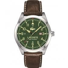 shop men s lacoste 2010781 watch british watch company lacoste men 039 s montreal watch green dial