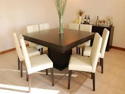 wooden dining furniture. Furniture, Modern Minimalist Square Wood Dining Table Design With White Leather Seats 8 High Wooden Furniture