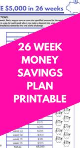 26 Week Money Challenge Printable Save 5000 Or 1000