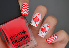 Canada Day Gel Nail Designs Cosmetic Proof July 2017 Vancouver Beauty Nail Art And