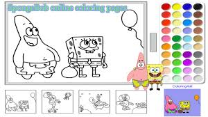 Small Picture SpongeBob Online Coloring Pages For Kids SpongeBob Coloring