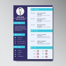 Resume Template Website Modern Web Developer Resume Template Vector