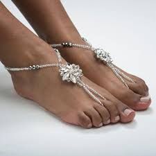 Wedding Barefoot Sandals Destination Wedding Foot Jewelry Beach