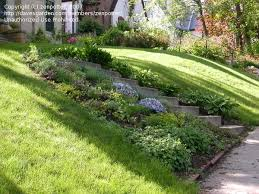 Small Picture modest landscape design ideas sloped backyard with garden design