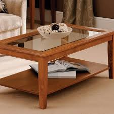 interesting coffee tables with glass top displays