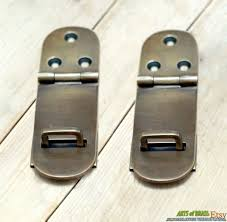 Lot of 2 pcs Vintage Retro Flip LATCH Lock Safe Box Door Lock