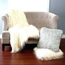 small faux fur rug white accent black sheepskin orange natural throw interior rugs whi