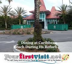 dining options at caribbean beach during its refurb