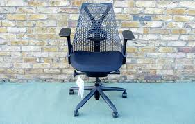 herman miller sayl office chair. Front Facing Picture Of A Second Hand Herman Miller Sayl Office Chair, Black Fabric Seat Chair -