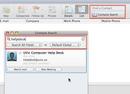 Global Address List Outlook 2011 For Mac University Of Victoria