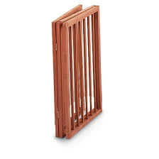 wood pet gate folds for travel storage