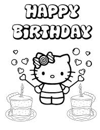 Small Picture Hello Kitty Two Cakes Birthday Coloring Page H M Coloring Pages