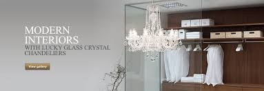 interiors with lucky glass crystal chandeliers