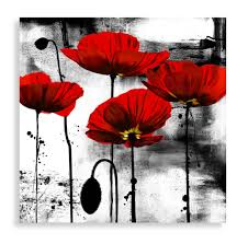 line of poppies wall art bed bath beyond