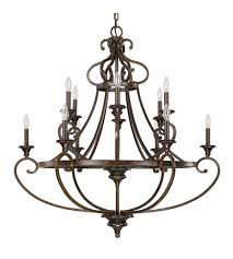 capital lighting 4532cb 000 maxwell 12 light 40 inch chesterfield brown chandelier ceiling light