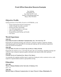 Front Office Executive Resume Format Proyectoportal Com
