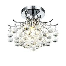 gorgeous flush chandelier ceiling lights semi crystal with 3 light for dinning room mount chrome nice