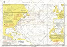 Pilot Chart Of The North Atlantic Ocean Published 1903