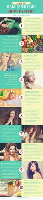 how to make your hair grow faster infographic