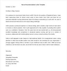 Nursing Letters Of Recommendation Blogue Me