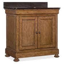 Hooker Furniture Louis Stone Top Bathroom Vanity In Medium Wood