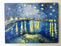 painting starry night over the rhone van gogh painting starry night over the rhône birthday gift wedding gift gift painting