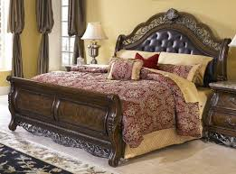 Sleigh Bed Bedroom Furniture Sleigh Bed Willenburg Linen King Upholstered Sleigh Bed By