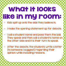 Bright Ideas Using Debates To Teach Opinion Writing In The