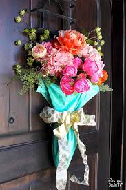 spring wreath for front doorMake Your Door Happy with these Colorful Spring Wreaths