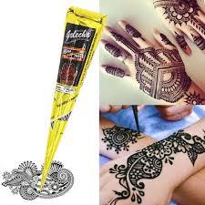černá Henna Kužele Henna Indiana Tattoo Náhrdelník Pro Dočasné Tetování Body Art Samolepka Mehndi Body Paint At Vova