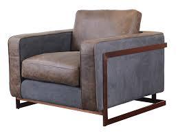 luxury genuine leather single sofa