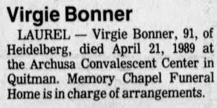 Virgie Bonner - Newspapers.com