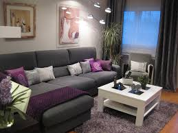 Purple Living Room Decor Ikea Purple Living Room Decorating Pinterest Grey Curtains