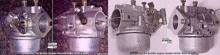 information about small engine carburetors various fuels and fuel there s another 30 carburetor designed specifically for the kohler engine model k582 the throttle shaft is positioned horizontally and the idle fuel