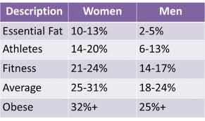 Healthy Muscle Mass Percentage Chart What The Female Body Looks Like At Different Body Fat