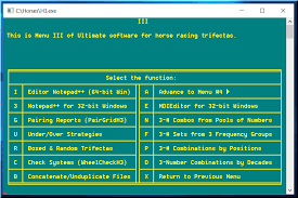 Horse Racing Ultimate Software For Trifecta Betting