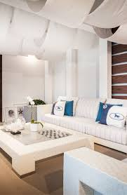 living group london miami fendi casa outdoor set up in luxury living miami showroom with white and blue colors combined